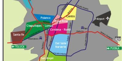 Condesa Mexico City-map - Karte von condesa Mexiko-Stadt ...